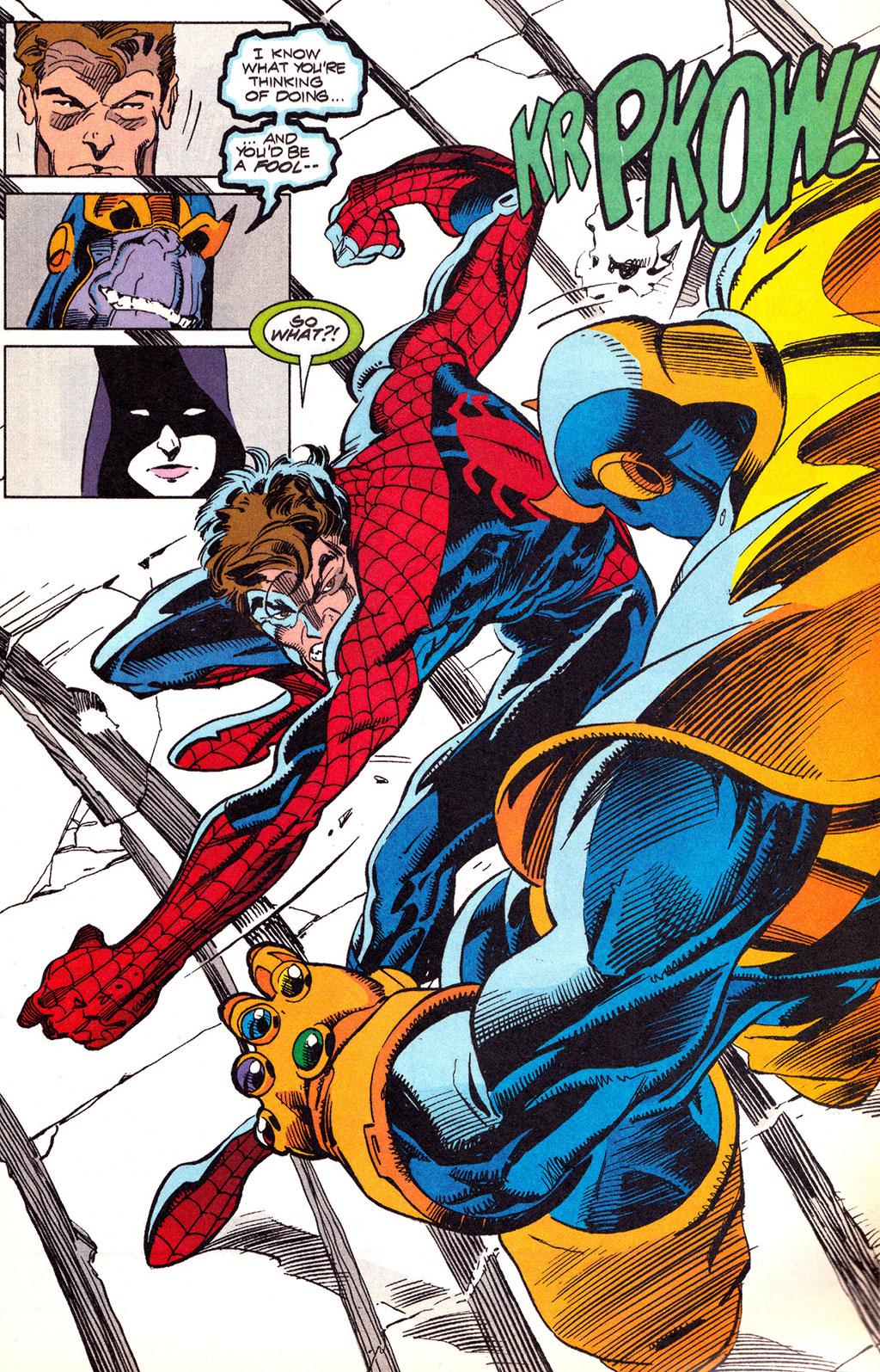Homem-Aranha vs Thanos