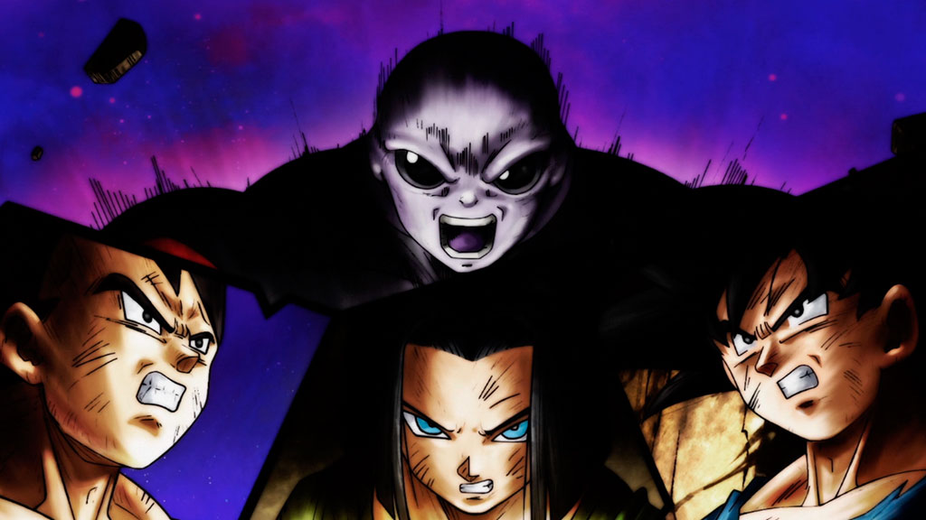 Jiren vs Vegeta, Androide 17 e Goku Dragon Ball Super episódio 126