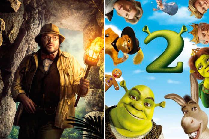 Jumanji: Bem-vindo à Selva ultrapassa bilheteria de Shrek 2