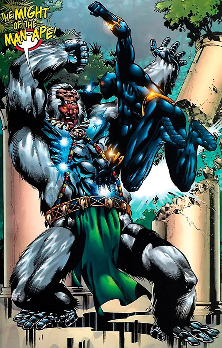 Man-Ape vs Pantera Negra