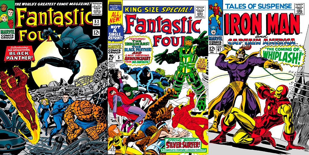 Primeiras aparições do Pantera Negra Marvel Comics