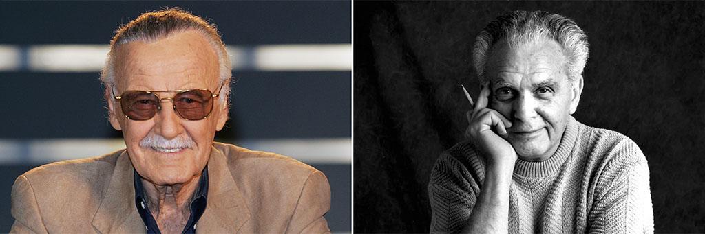 Stan Lee e Jack Kirby, criadores do Pantera Negra