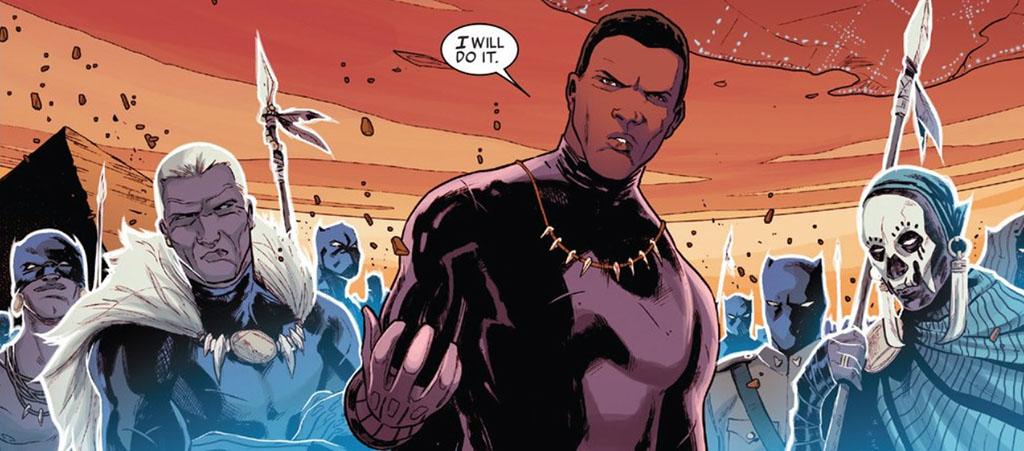 T'Challa, o Pantera Negra, rei de Wakanda