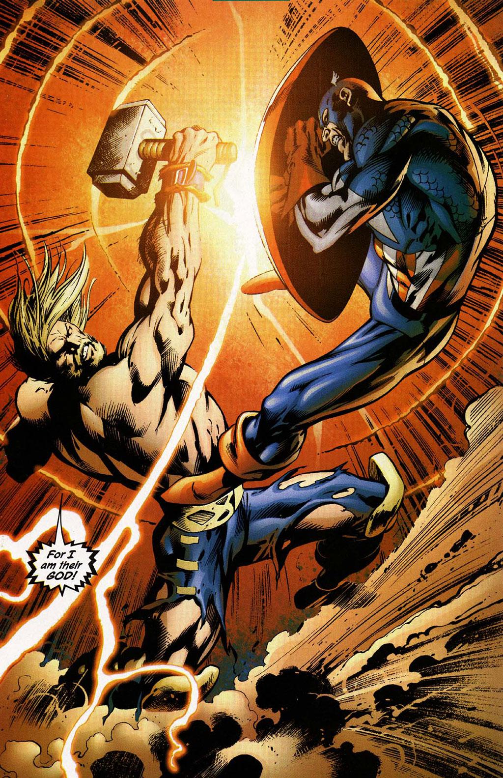 Thor vs Capitão América