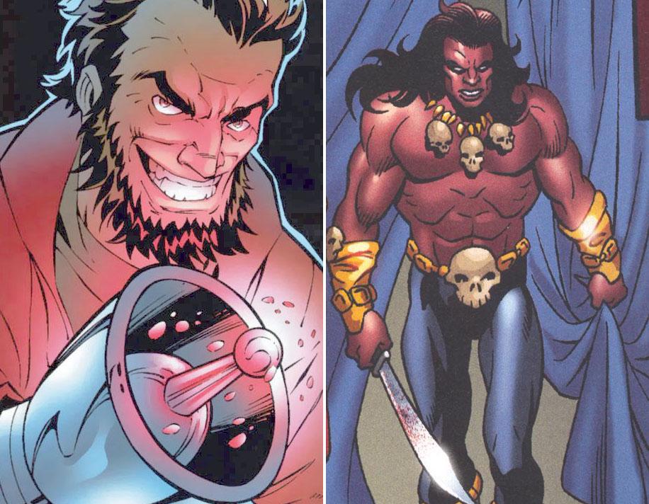 Ulysses Klaw e Erik Killmonger, principais inimigos do Pantera Negra