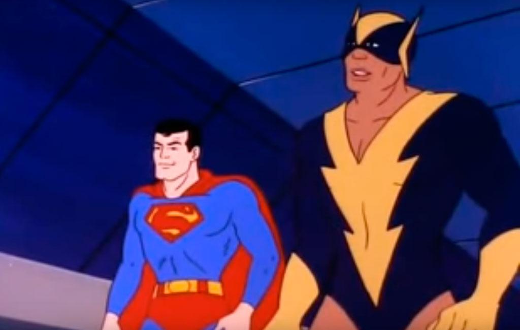Vulcão Negro e Superman em SuperAmigos