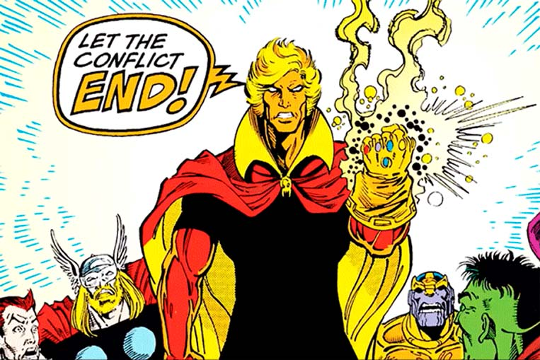 Adam Warlock com a Manopla do Infinito