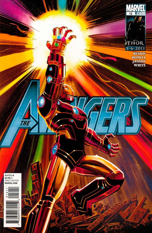 Avengers #12 (2011) - Homem de Ferro com a Manopla do Infinito
