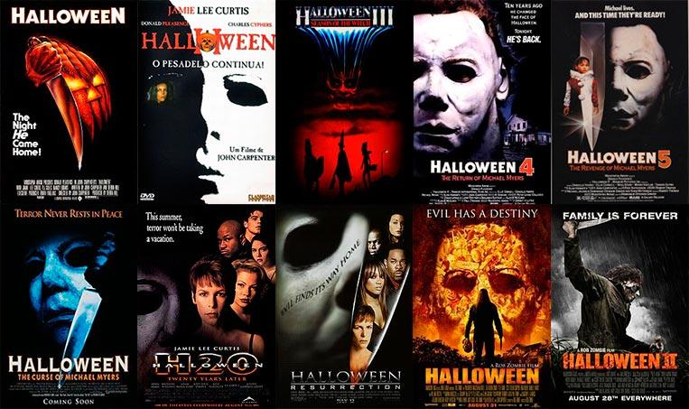 Capas do filmes de Halloween