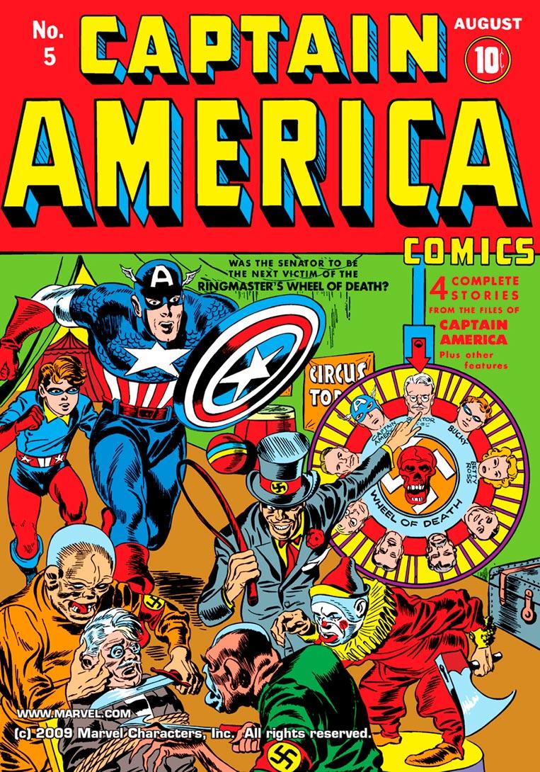 Capitão América e seu pupilo, Bucky Barnes