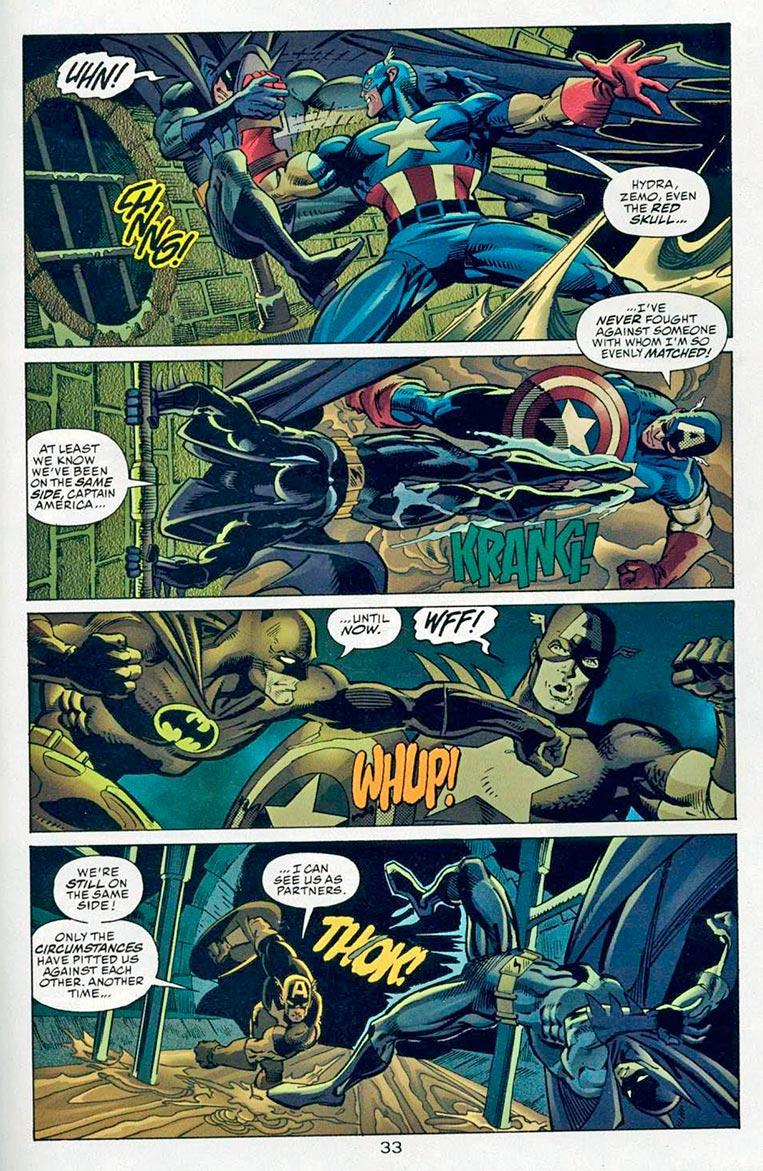 Capitão América X Batman no esgoto