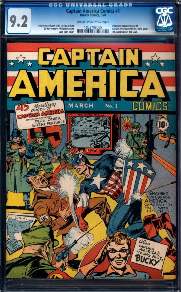 Primeiro quadrinho do Capitão América vale uma fortuna