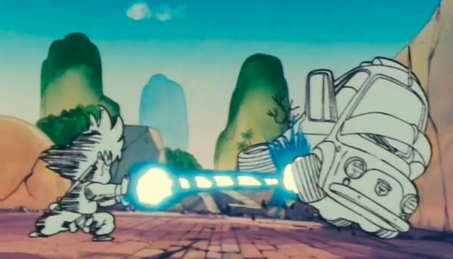 Goku primeiro Kamehameha