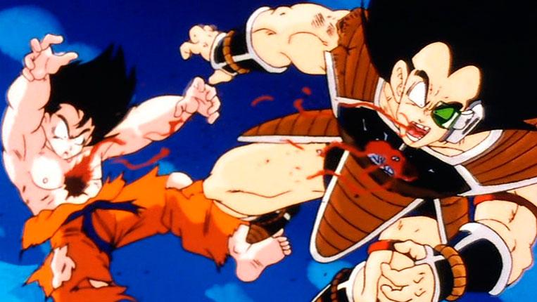 A morte de Goku e seu irmão Raditz em Dragon Ball Z
