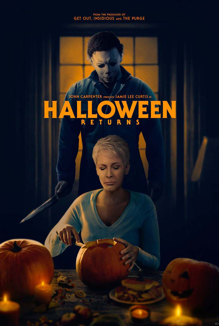 Poster Halloween (2018) - Jamie Lee Curtis e Nick Castle