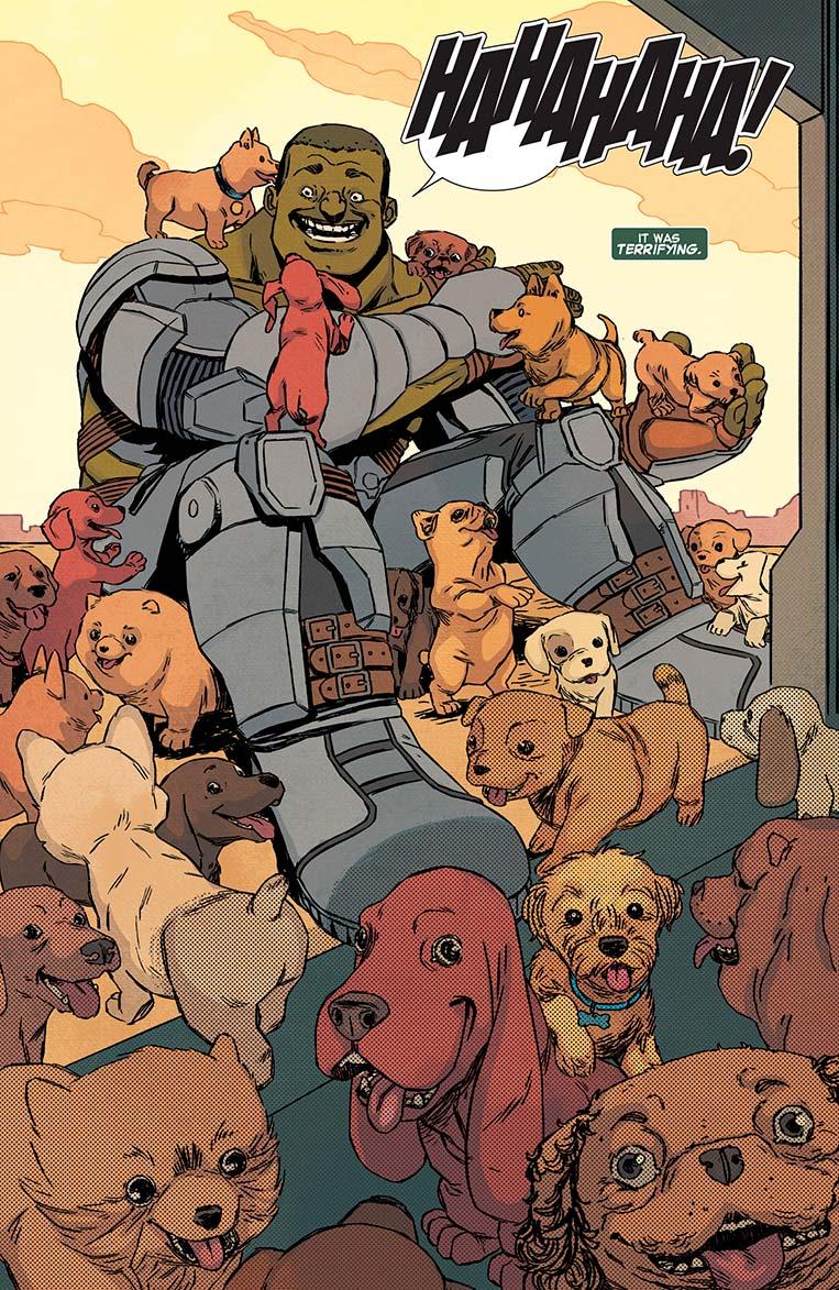 Hulk ama filhotes de cachorro