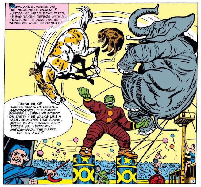 Hulk palhaço de circo