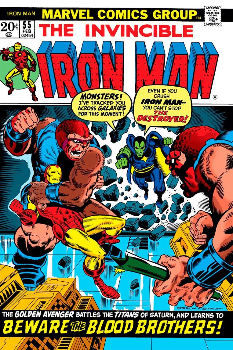 Iron Man #55 Primeira aparição de Thanos nas HQs