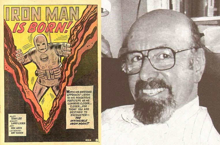 Larry Lieber, criador do Homem de Ferro