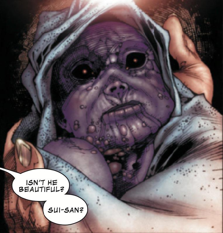Thanos, o bebê amaldiçoado
