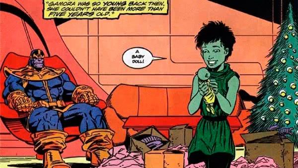 Thanos e Gamora celebram o natal