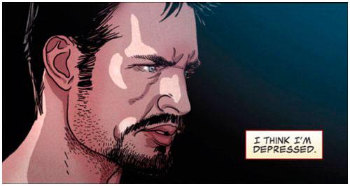 Tony Stark tem depressão