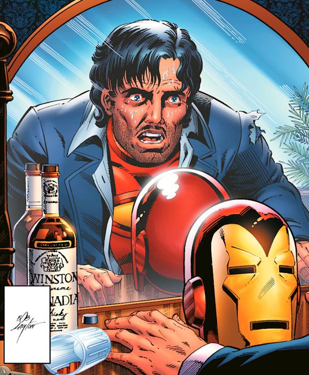Tony Stark é alcoólatra