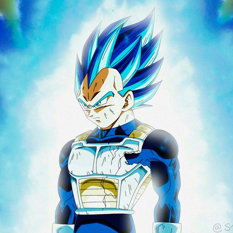 Vegeta Super Saiyajin Blue full power