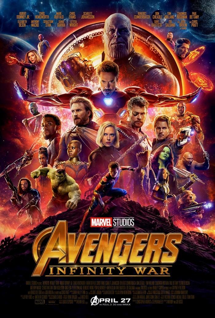 Poster Vingadores: Guerra Infinita Thanos e Heróis