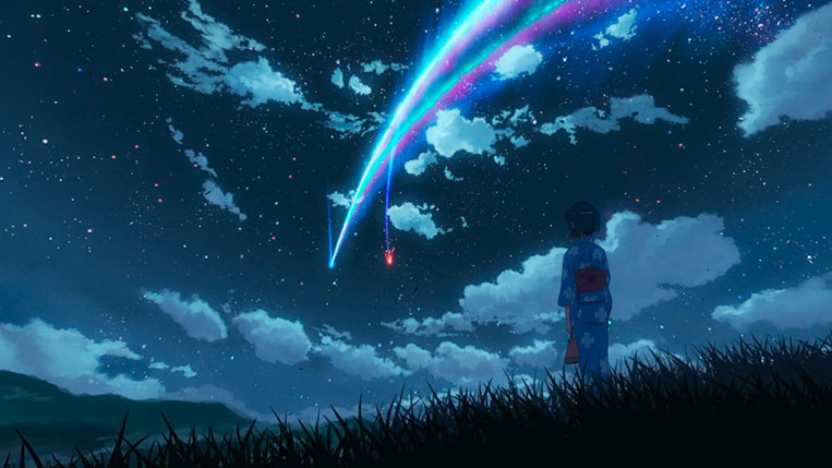 Your Name (Kimi no Na wa) Mitsuha e a queda do cometa