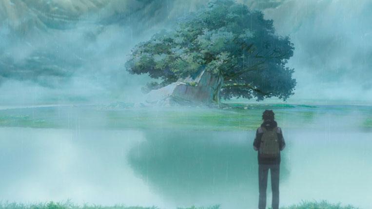 Your Name (Kimi no Na wa) Taki vai até o templo em Itomori