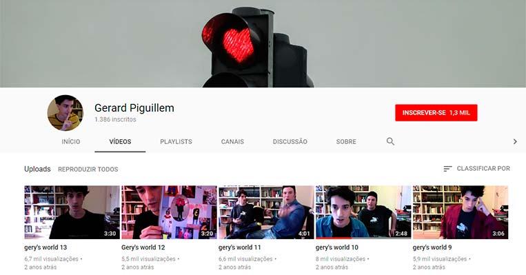 Canal de Gerard Piguillem no YouTube - Merlí