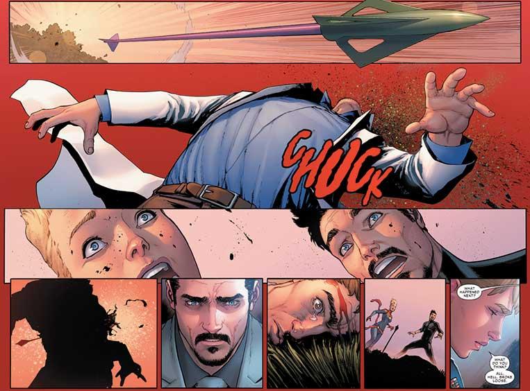 Gavião Arqueiro mata Bruce Banner no arco Guerra Civil II