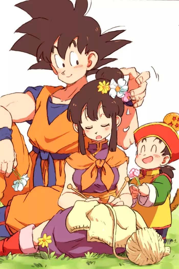 Goku, Chi-Chi e Gohan