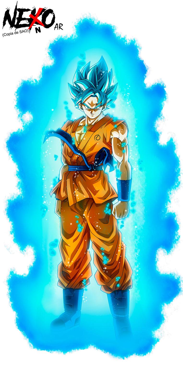 Goku super saiyajin blue aura