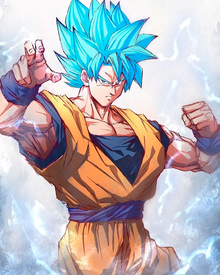 Goku super saiyajin blue 02