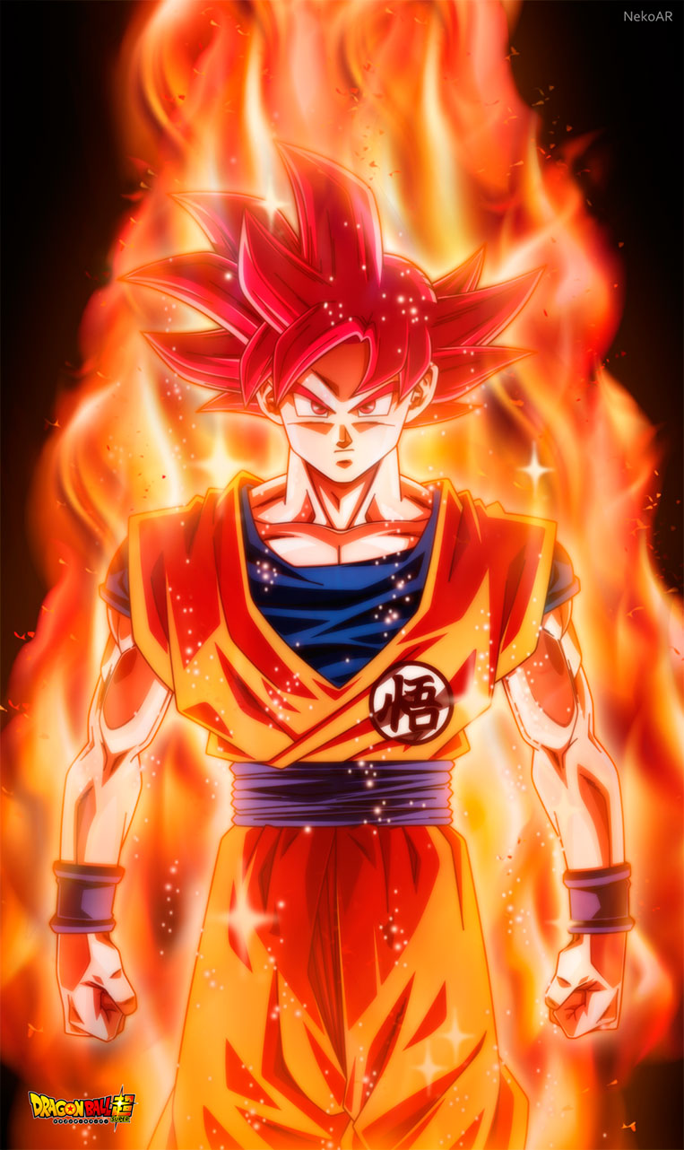 Goku super saiyajin god aura