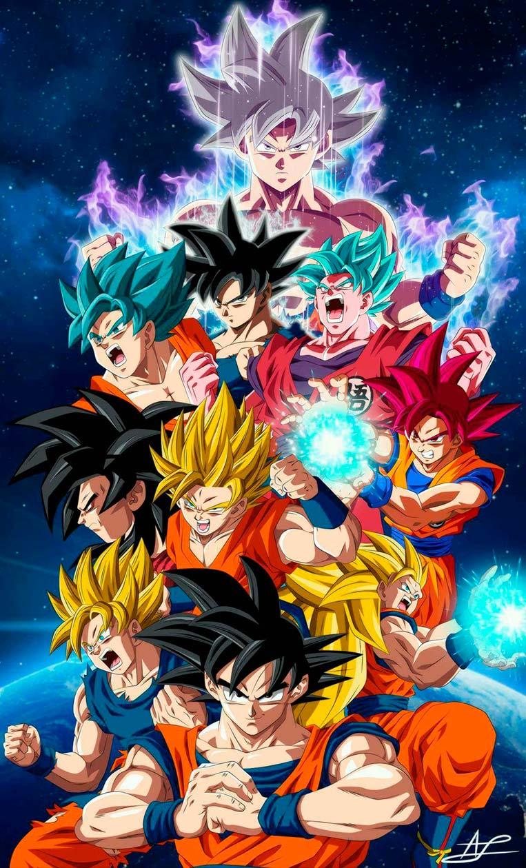 Goku, todas as transformações