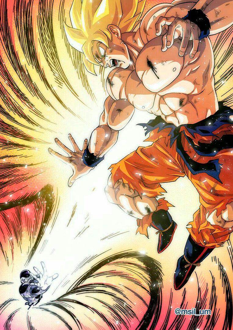Goku super saiyajin X Frieza em Namekusei