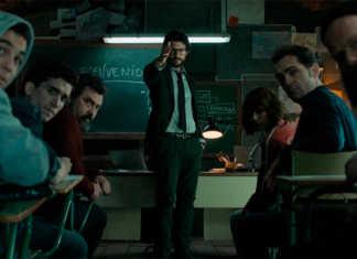 La Casa de Papel, episódio 1 sala de aula