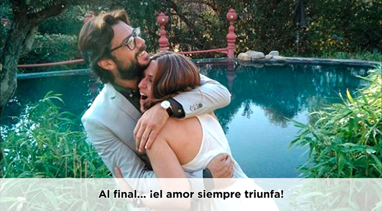Raquel Murillo e El Profesor, final não mostrado em La Casa de Papel