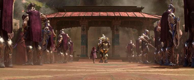 Thanos e Gamora criança em Vingadores: Guerra Infinita (2018)