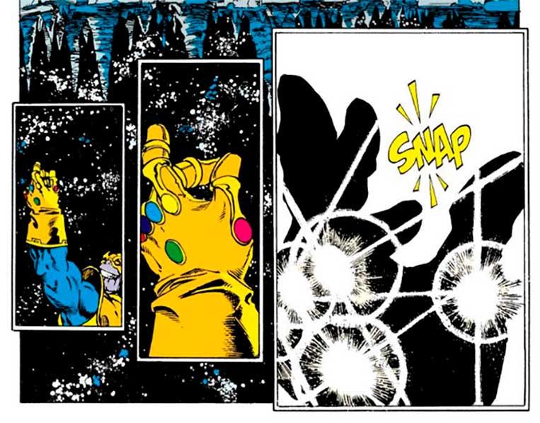Thanos estalar de dedos