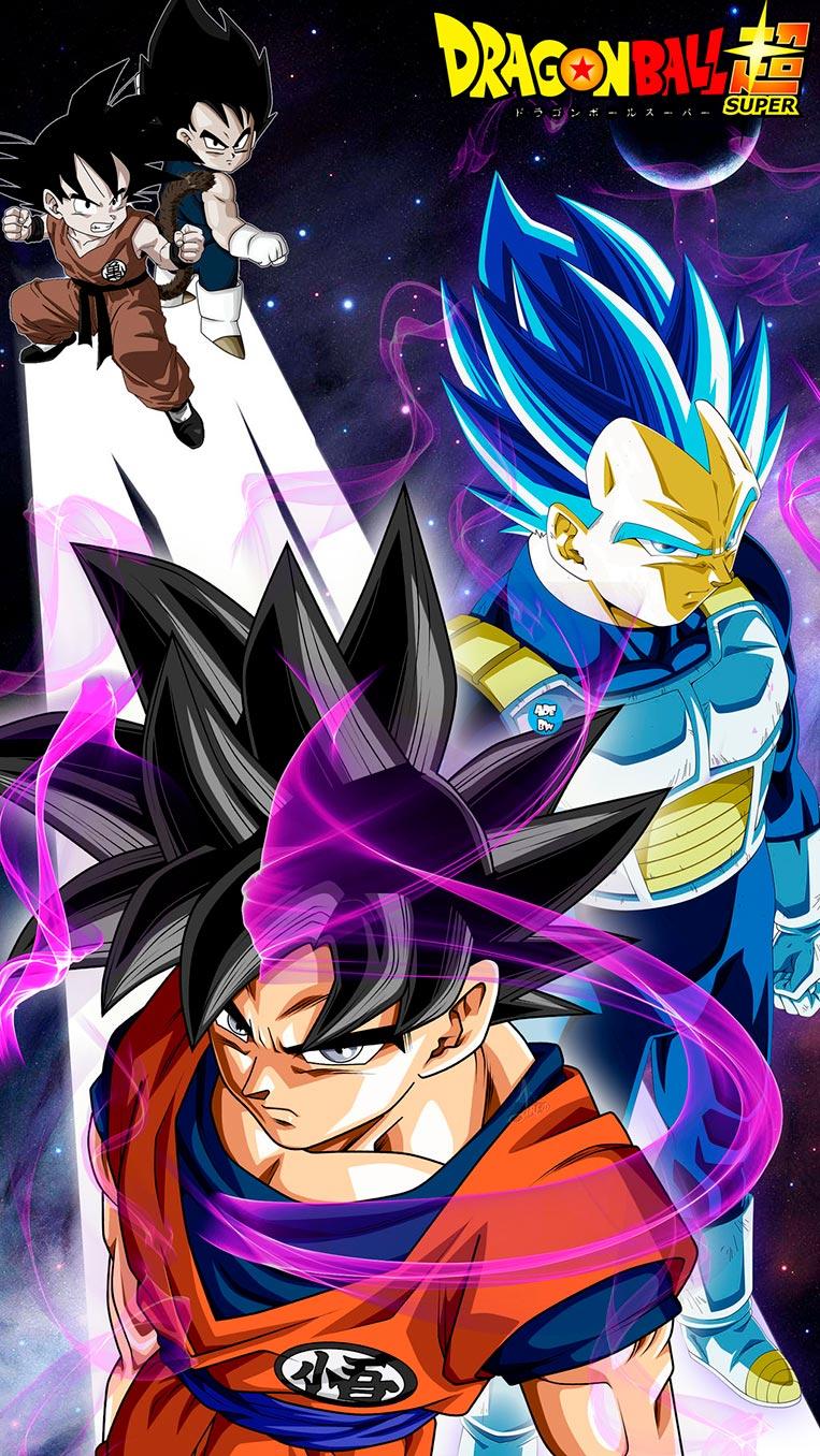 Vegeta e Goku criança/adulto 19
