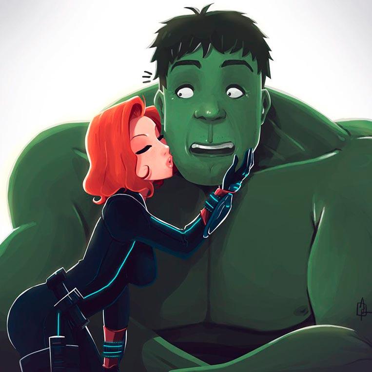 Viúva Negra e Hulk