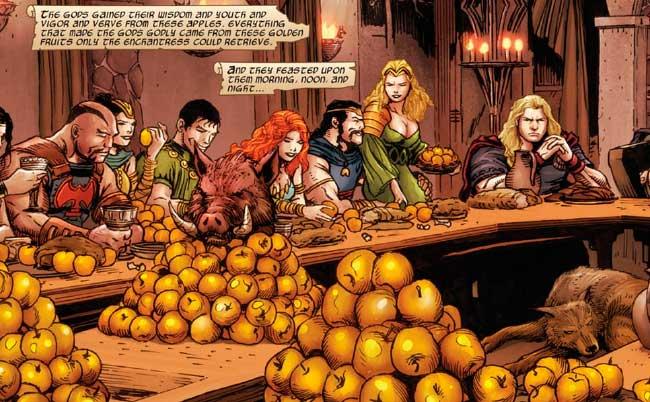 Maçãs douradas Asgardianos