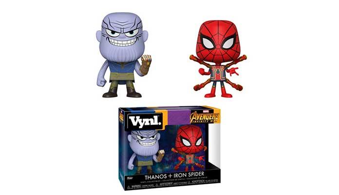 Funko Vynl Thanos e Homem-Aranha