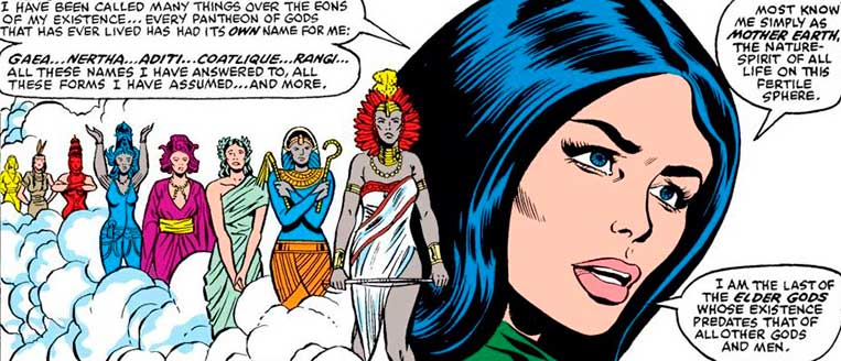 Gaea, mãe de Thor