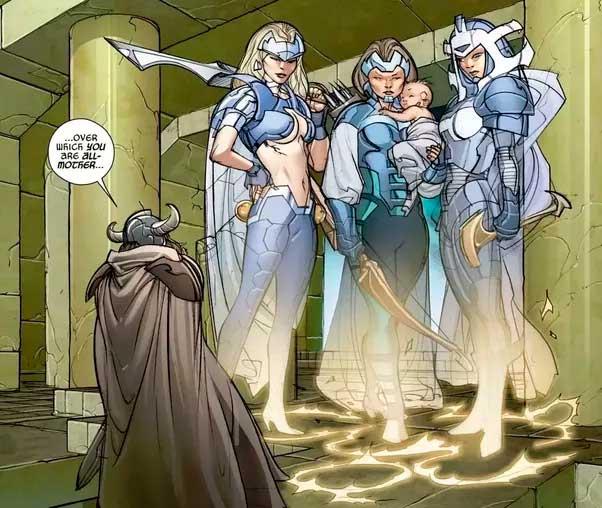 Gaea teve Thor em uma caverna
