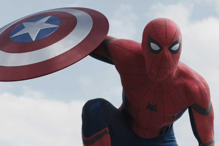 Tom Holland (Homem-Aranha) em Capitão América: Guerra Civil (2016)